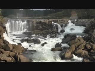 曽木の滝と発電所遺構