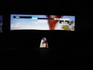ソニーの3Dメガネの動作(240フレーム)