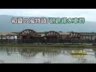 初夏の風物詩 朝倉揚水車群