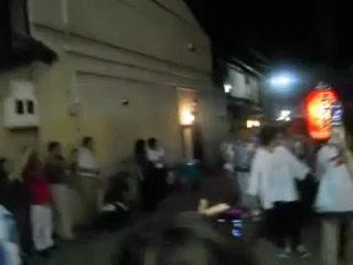 祇園町での祇園囃子