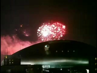 札幌ドームでの花火