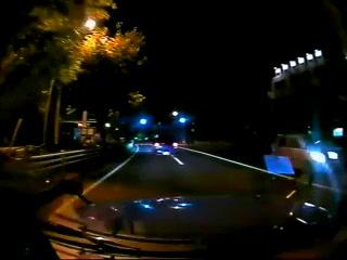 タクシーの車載カメラで撮影されたヒグマ