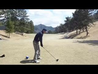 ゴルフ ドライバーのナイスショット