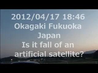 人工衛星の落下?大気圏に突入?