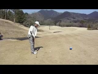お天気の良い日にゴルフ!ナイスショット