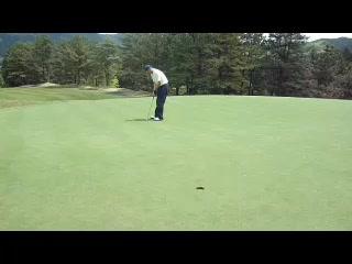 ゴルフ バーディーパットを決める