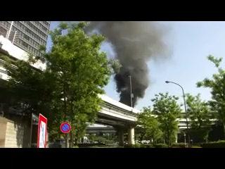 首都高竹橋ジャンクション ダンプカー炎上事故2