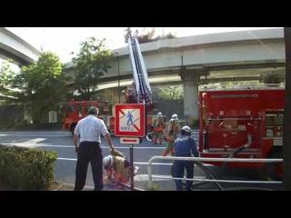 首都高竹橋ジャンクション ダンプカー炎上事故3