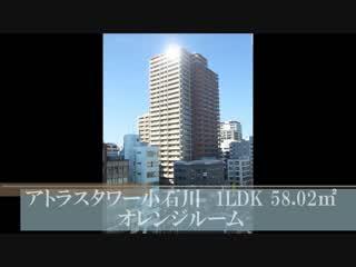 分譲賃貸マンション アトラスタワー小石川 1LDK 58.02㎡ 室内動画