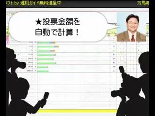 万馬券簡単的中!【投資競馬で収入UP】JRA-VAN対応競馬ソフト