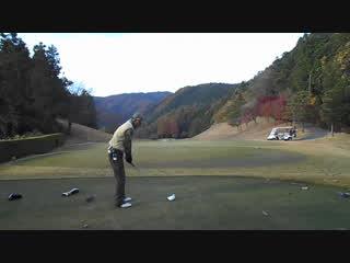 ゴルフ ドライバーのドローボールのスイング2016.11.23