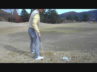 ゴルフ SWの高い球のアプローチショット練習2016.12.4