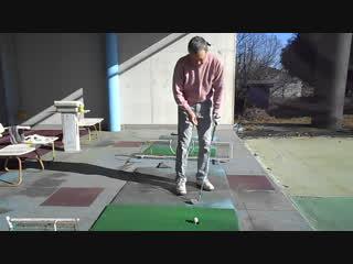 ゴルフ SWの柔らかいアプローチショット30Y 2016.12.11