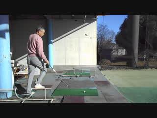 ゴルフスイング 体重移動を練習する素振り2016.12.11