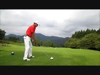 ゴルフ ドライバーのストレートボールのスイングをスローで2015.9.27