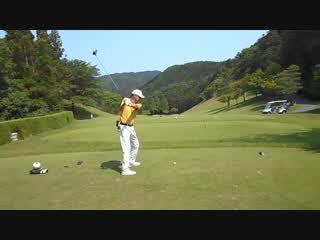 ゴルフ ドライバーの軽いスイングのストレートボール2016.5.21