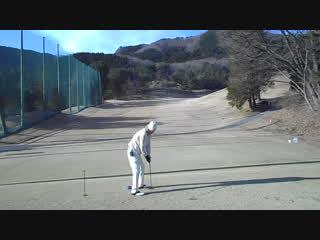 初打ちゴルフの9番ウッドの軽いドローボール2017.1.3