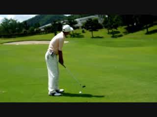 ゴルフスイング SWの80Yのナイスショット