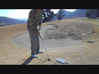 ゴルフ SWのバンカー越えのアプローチショット2017.1.22