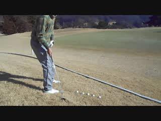ゴルフ SWの左足下がりのライからアプローチ2017.1.22