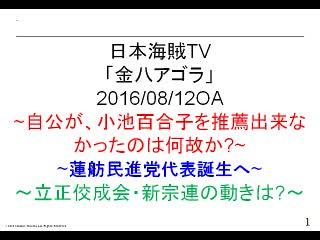 【金八アゴラ(2016/08/12)】(資料編)