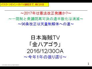 【金八アゴラ(2016/12/30)】(資料編)今年の10大ニュース