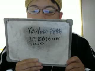 YouTube投稿1日どのくらいがいいか